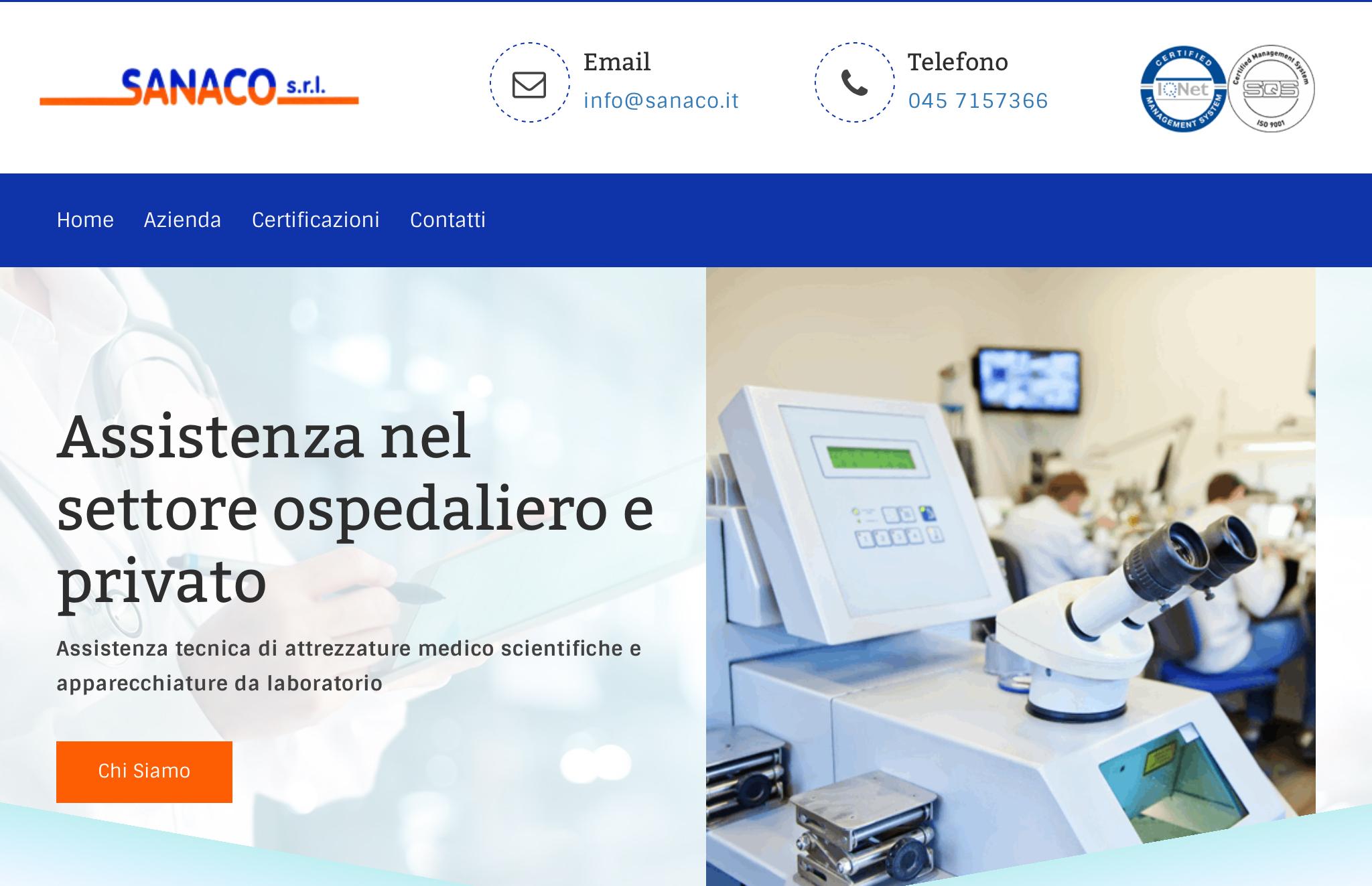 Realizzazione sito web per Sanaco