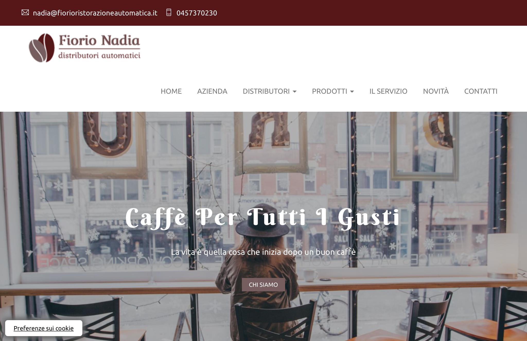 Realizzazione del nuovo sito di Fiorio ristorazione automatica