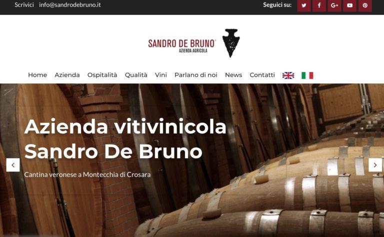 Restyling del sito per l'azienda Sandro De Bruno