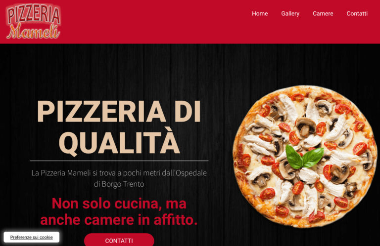 Restyling del sito della Pizzeria Mameli