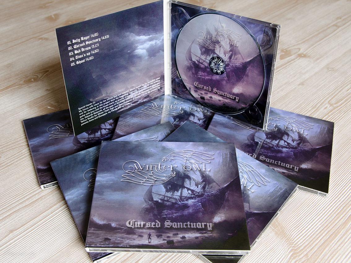Impaginazione del cd per Winter Owl – Power-Prog Metal band di Verona