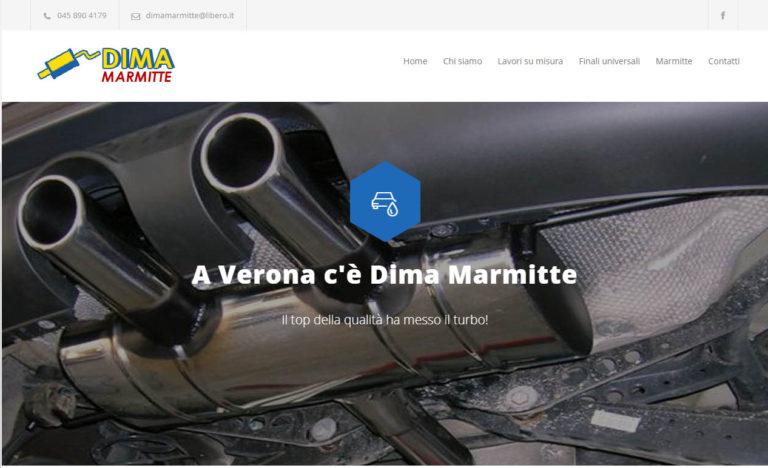 Realizzazione del nuovo sito web per Dima Marmitte