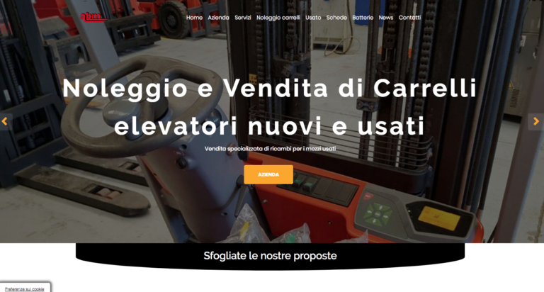 Grafica per il restyling del sito di Abm Carrelli