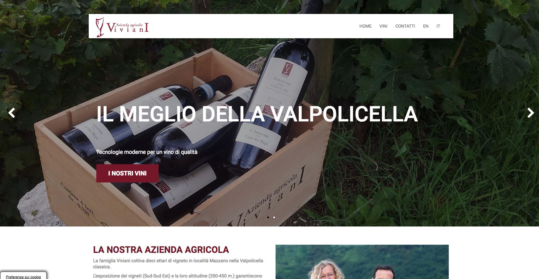 Grafica per il restyling del sito dell'Azienda agricola Viviani