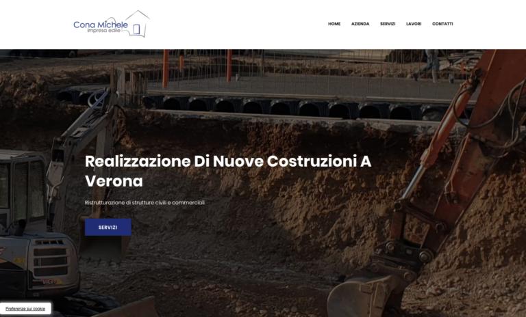 Nuovo sito web dell'Impresa Edile Cona Michele
