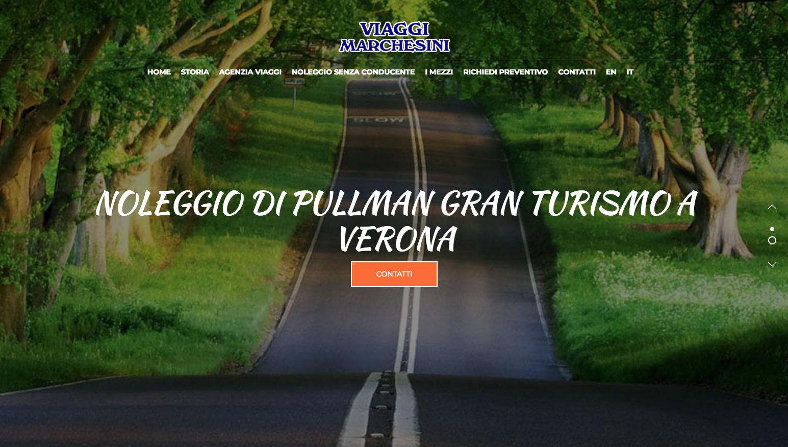Grafica per il sito di Viaggi Marchesini