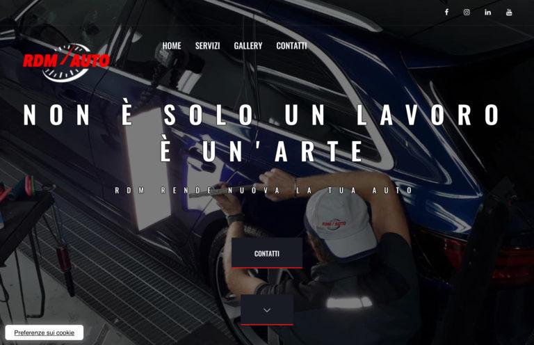 Nuovo sito web per RDM auto di Verona