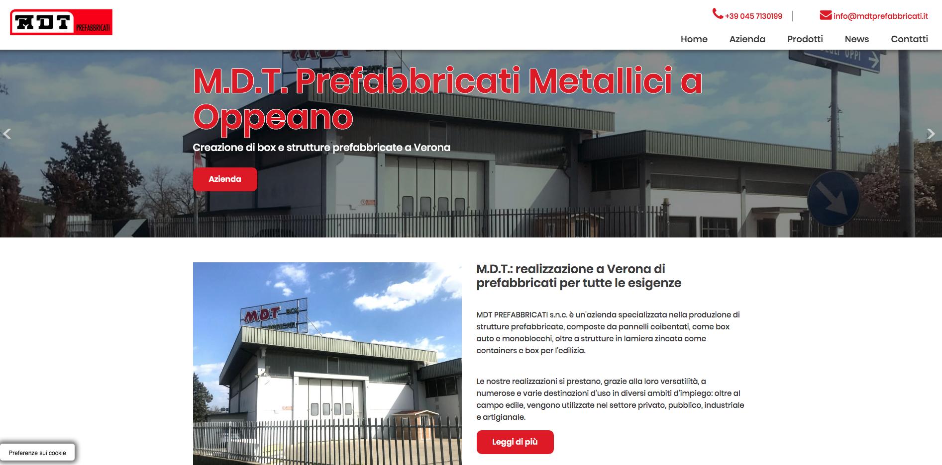 MDT Prefabbricati, il nuovo sito web