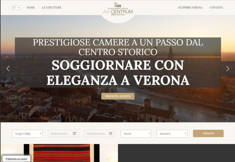 Accomodation in Verona, tre strutture B&B a Verona