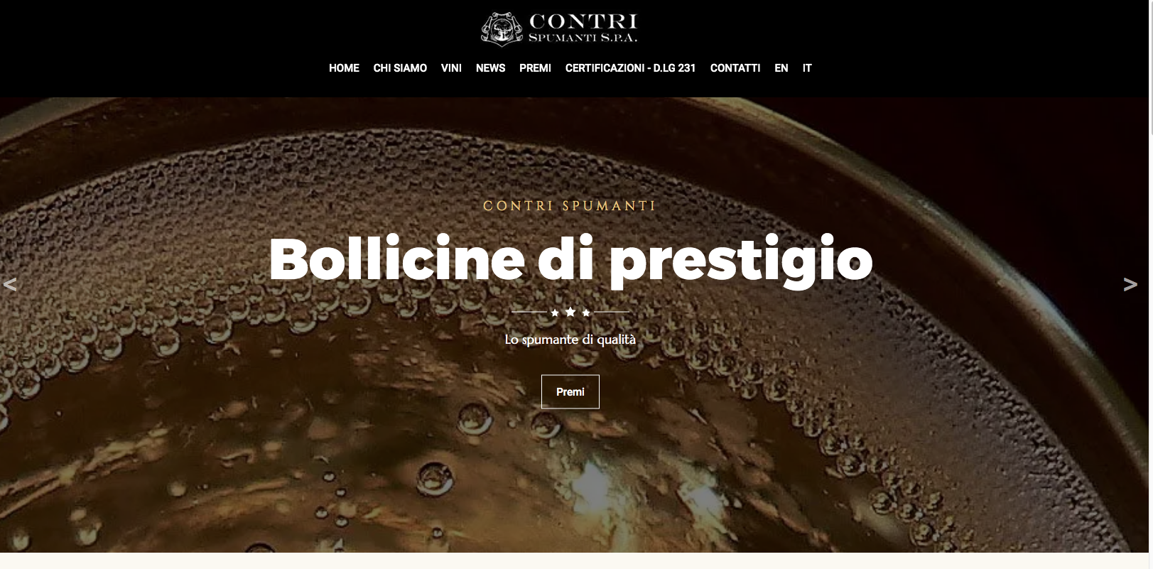 Restyling di CONTRI SPUMANTI SPA