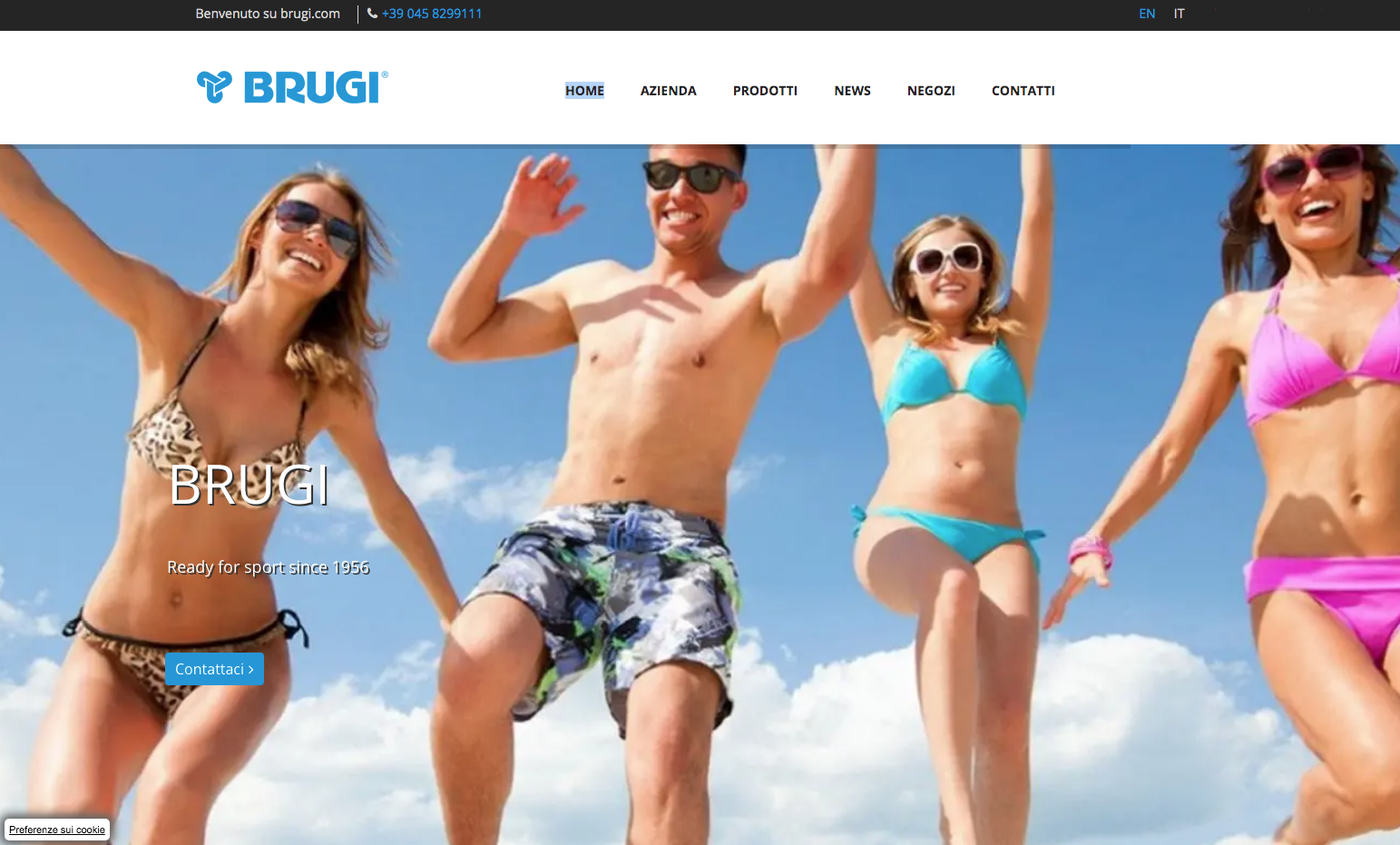 Restyling della grafica per il nuovo sito web di BRUGI