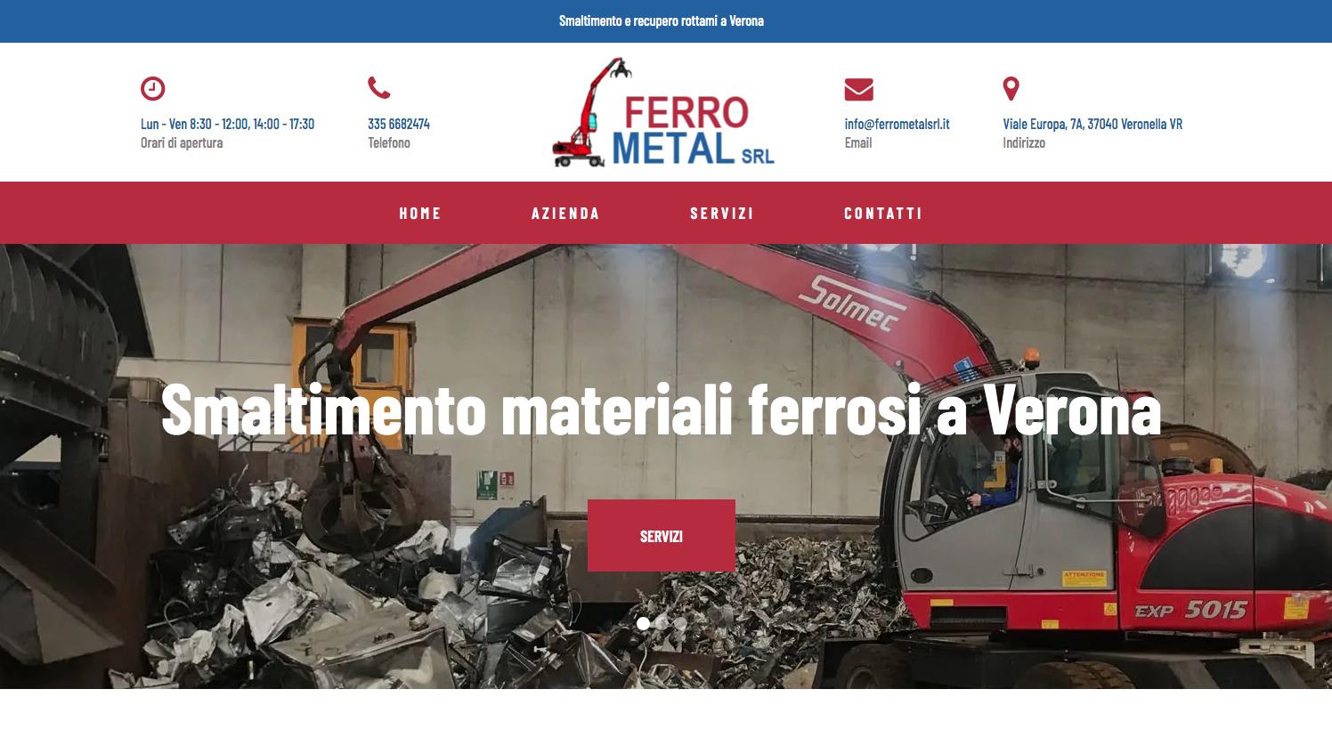 Restyling del sito di FERRO METAL Srl