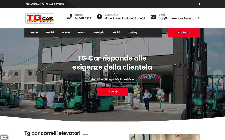 Grafica per TG CAR Carrelli Elevatori
