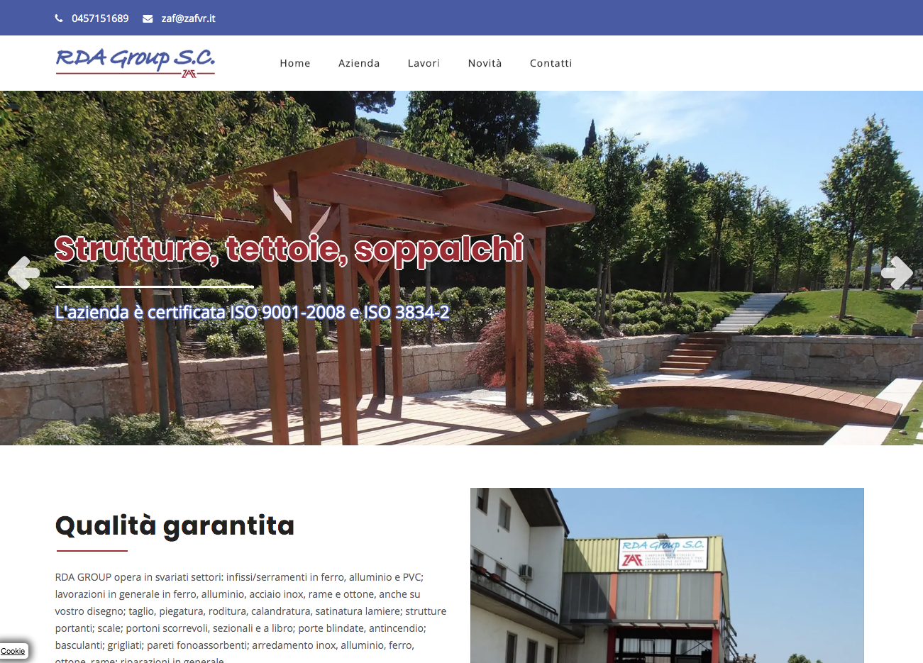 Grafica e contenuti per RDA GROUP