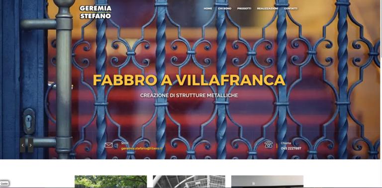 Grafica per Lavorazioni metalliche Geremia di Villafranca