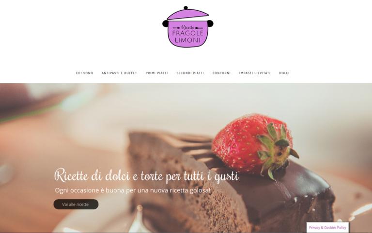 Realizzazione del sito web di ricette fragolelimoni.it