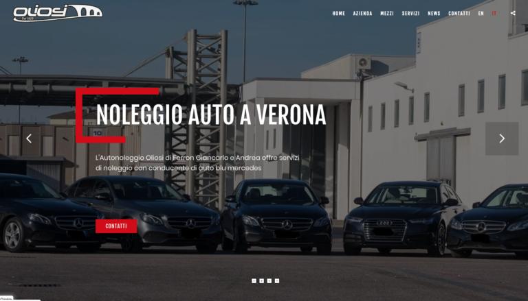 Autonoleggio di lusso a Verona Oliosi: realizzazione della nuova grafica del sito
