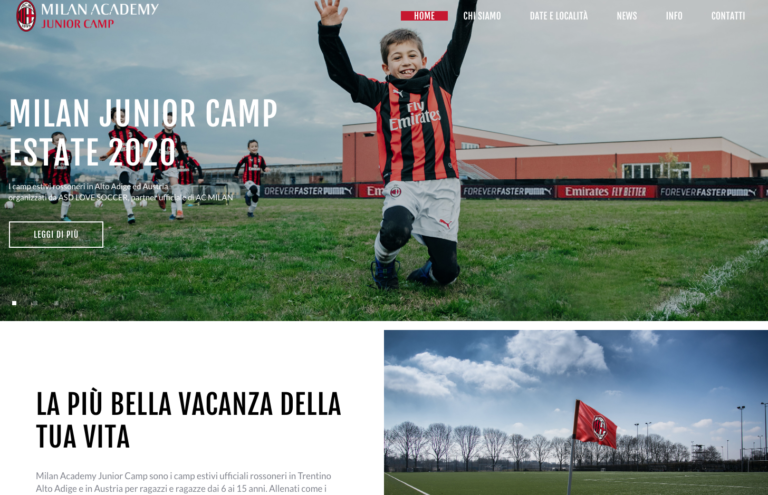 LOVE SOCCER: camp estivi per Milan Academy Junior Camp in Alto Adige