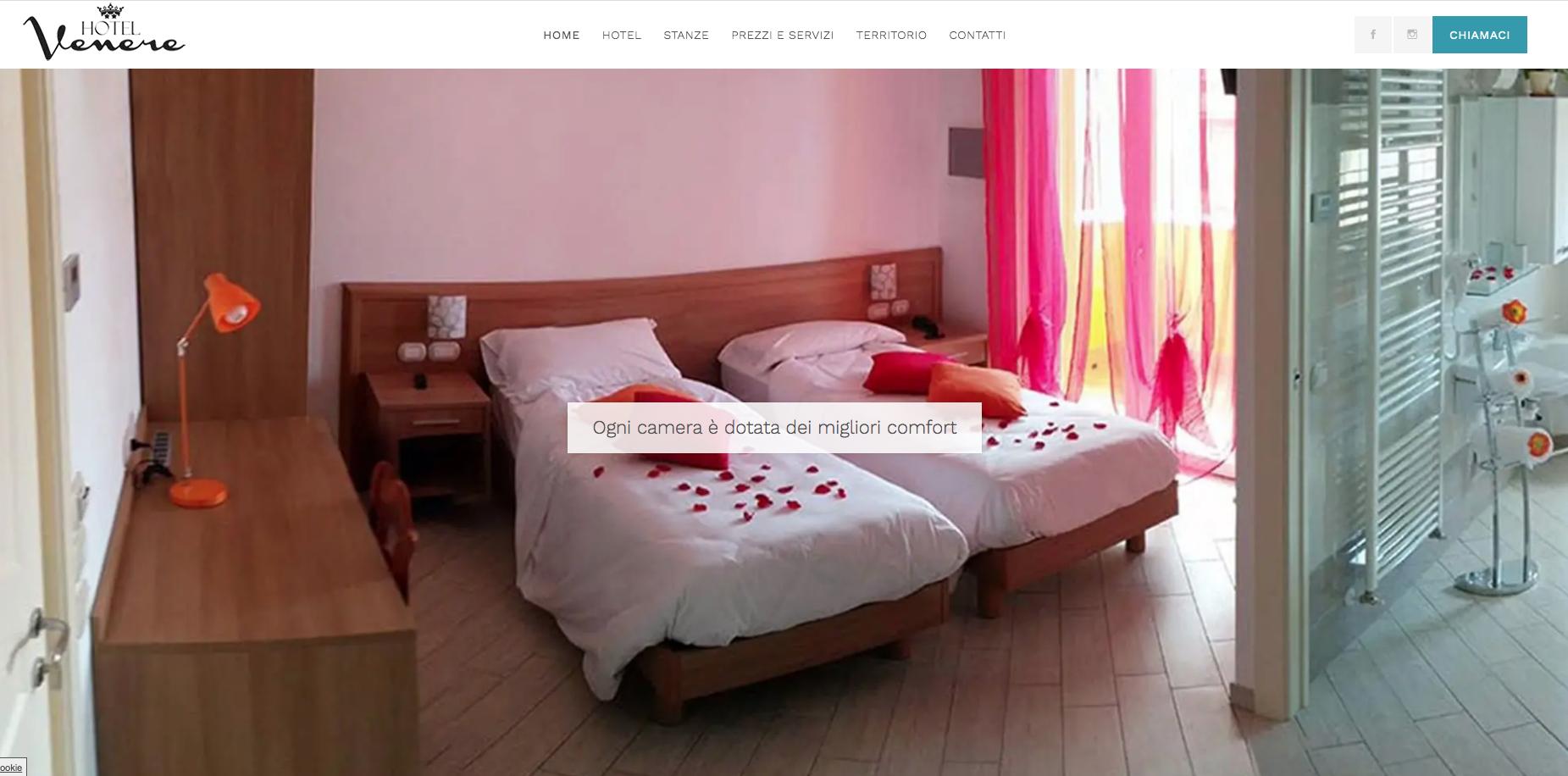 Grafica per l'Hotel Venere di Negrar (VR)